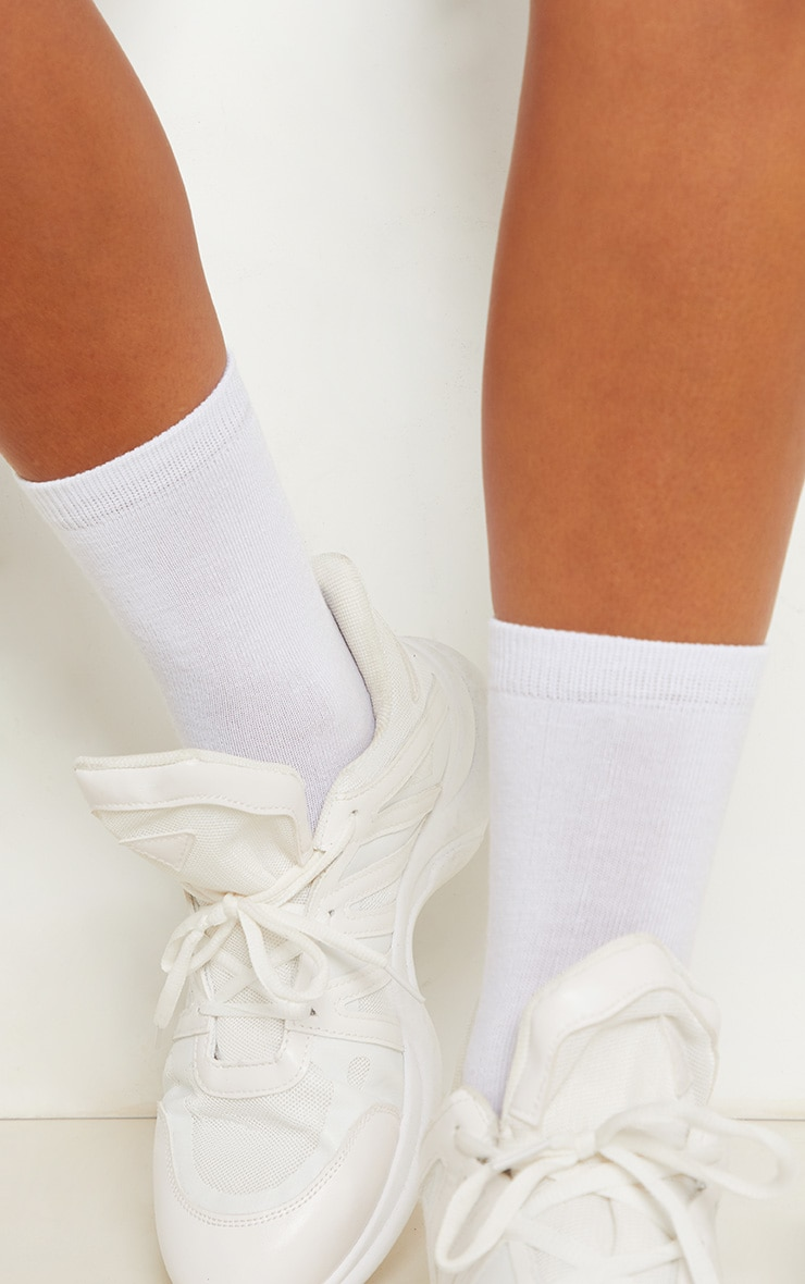 White Plain Socks 3 Pack 2