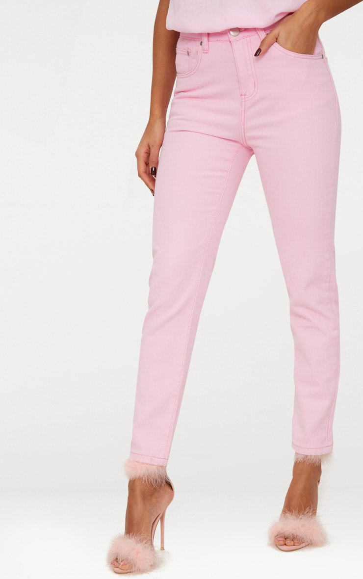 Pink Pastel Mom Jeans 2