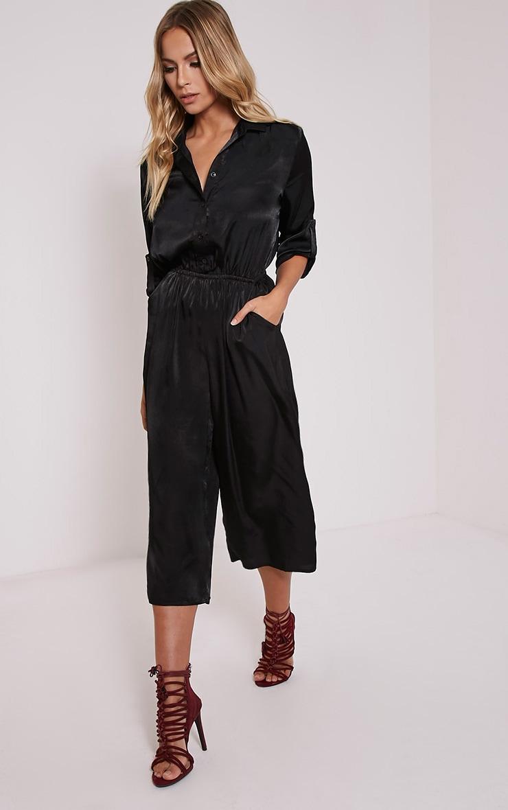 Katriana Black Culotte Jumpsuit 5
