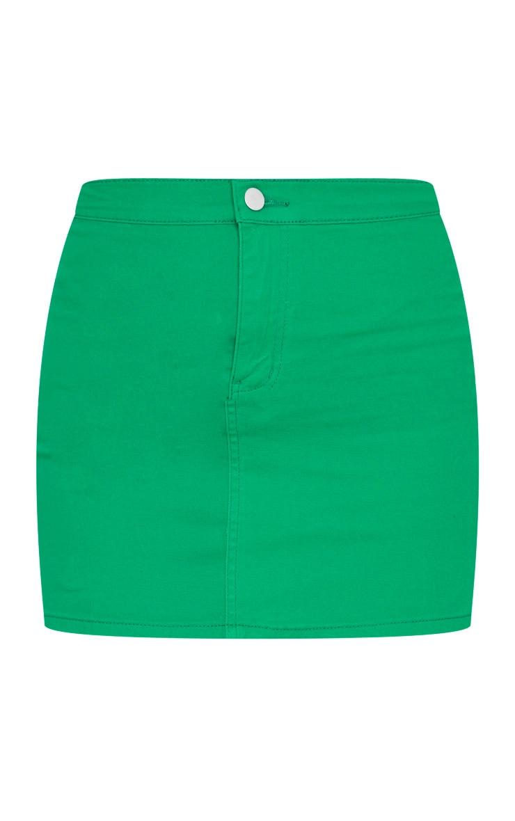 Jupe en jean vert disco 3