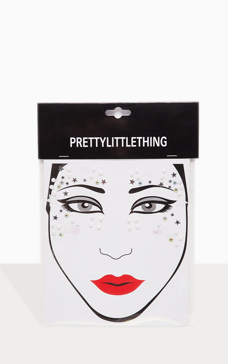 PRETTYLITTLETHING Party Pearls Face Jewel 2