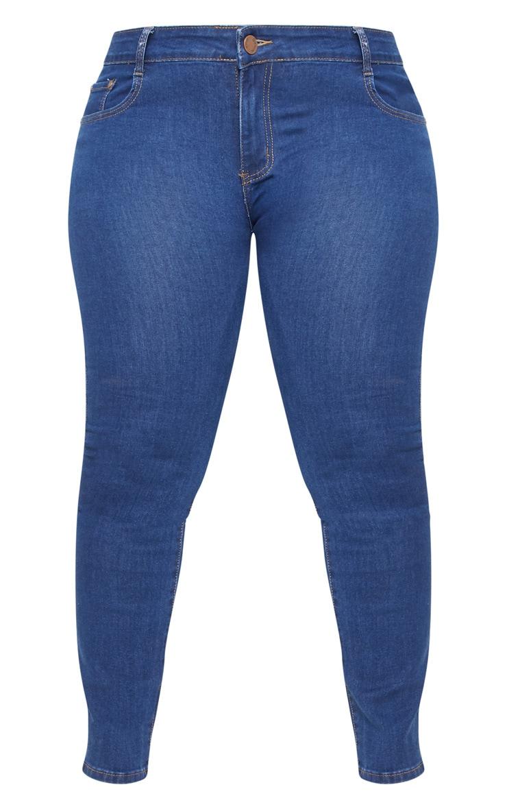 Plus Mid Wash Rise Skinny Jean  3