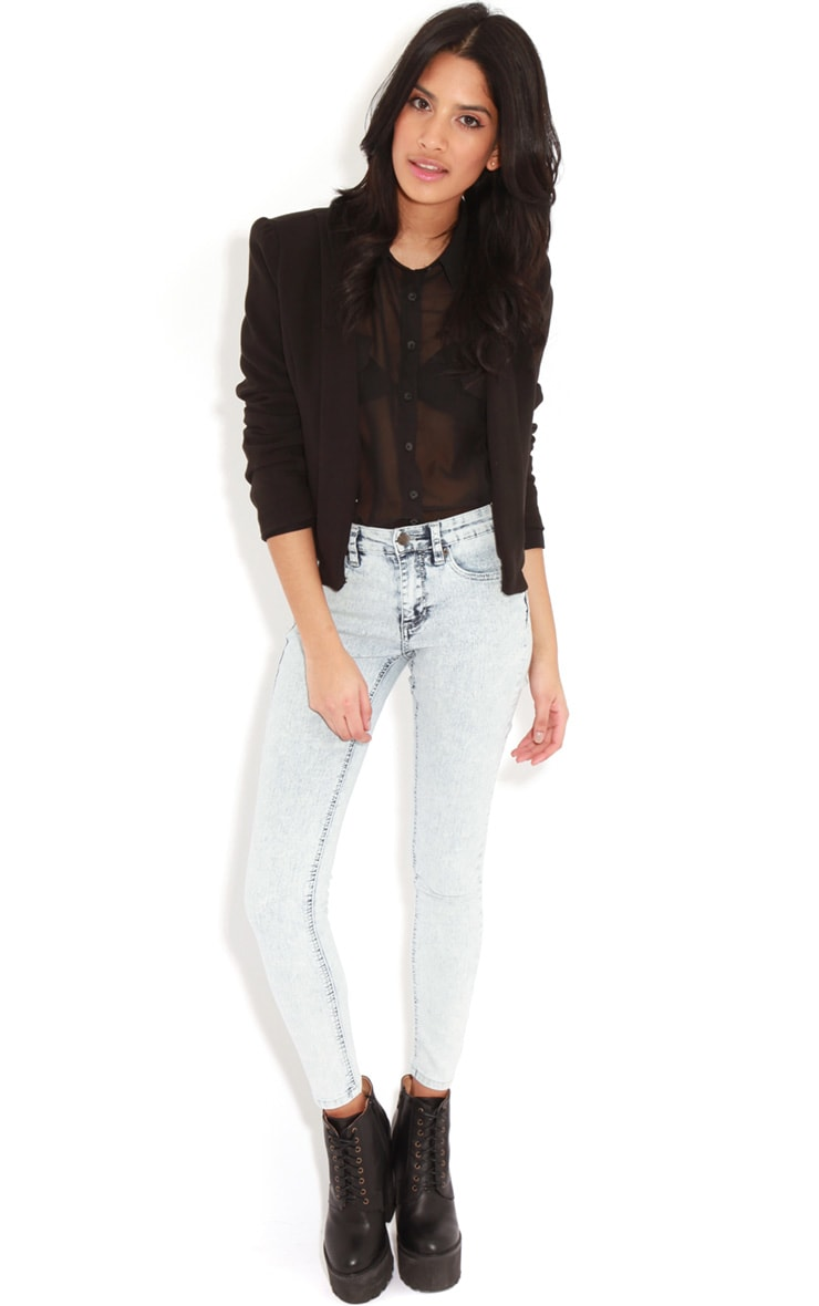 Kimmy Light Wash Skinny Jeans 1