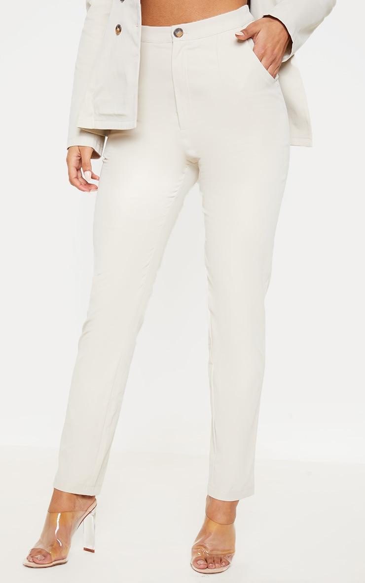 Stone Button Detail Pants  2