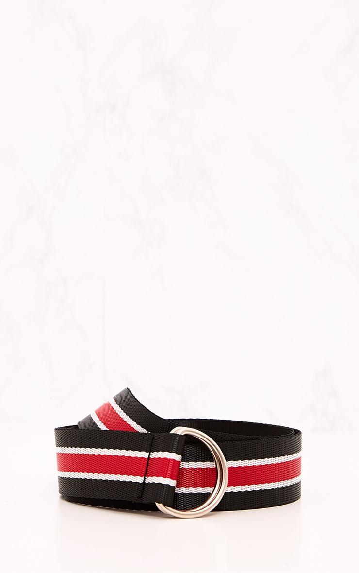 Blue & Red Striped Ribbon Belt 4
