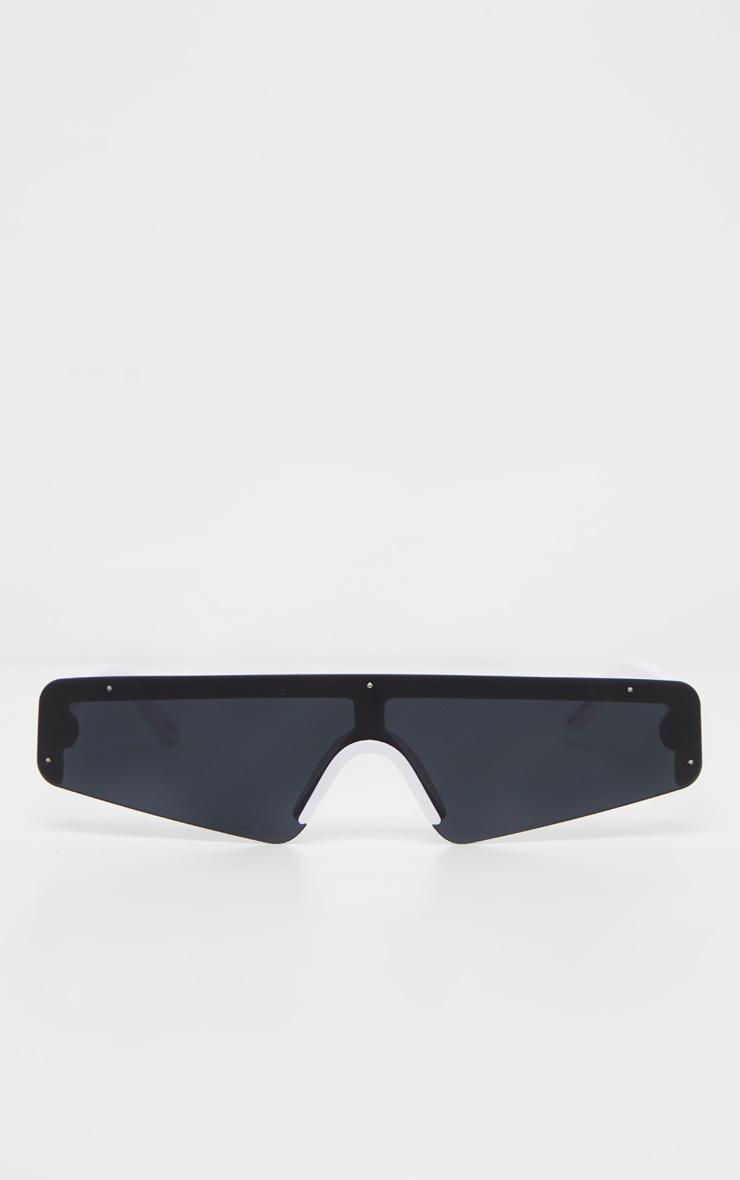Black Retro Slim Sunglasses 2