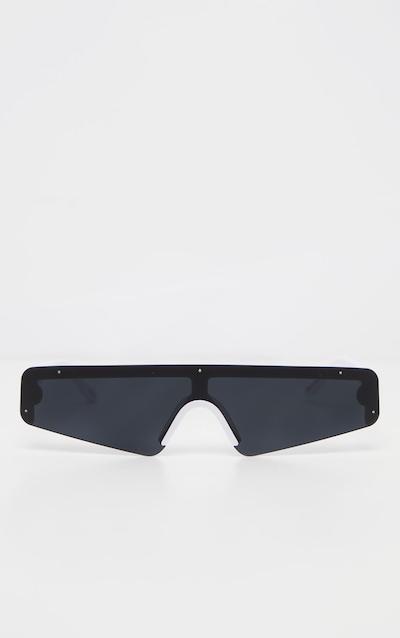 Black Retro Slim Sunglasses