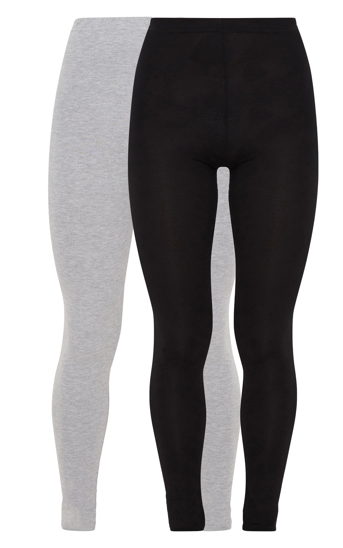 Black and Grey Basic Jersey Legging 2 Pack 4