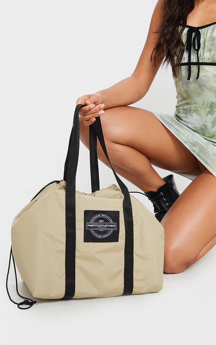 PRETTYLITTLETHING Sand Utility Tote Bag 2