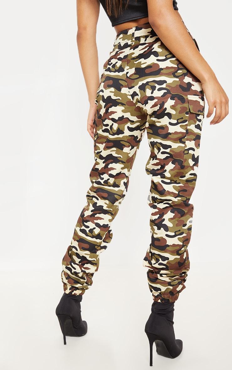 Pantalon cargo gris pierre imprimé camouflage 4
