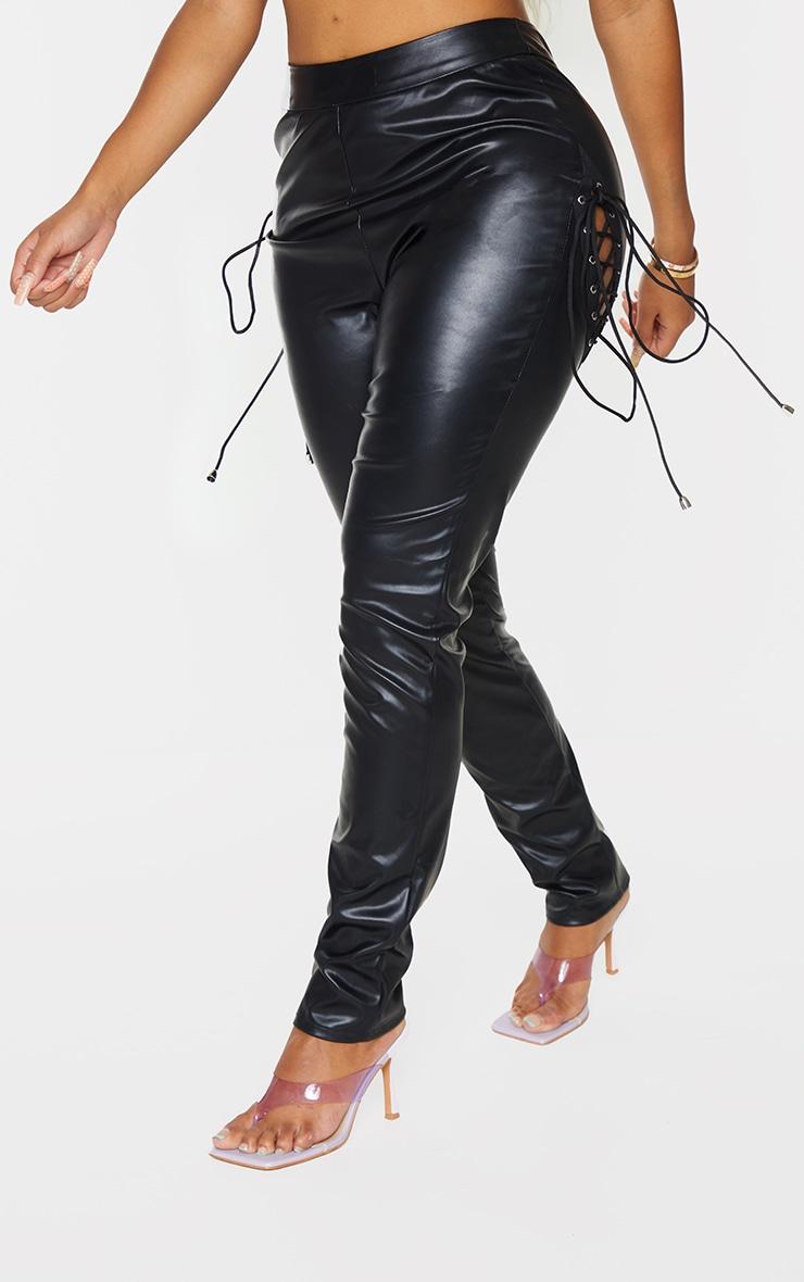 Shape Black Faux Leather Skinny Pants 2