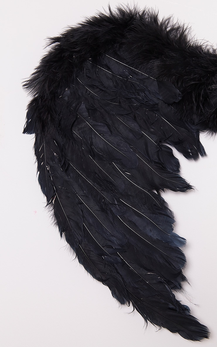 Black Feather Angel Wings 6