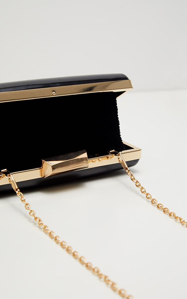 Black Patent Clutch Bag 4