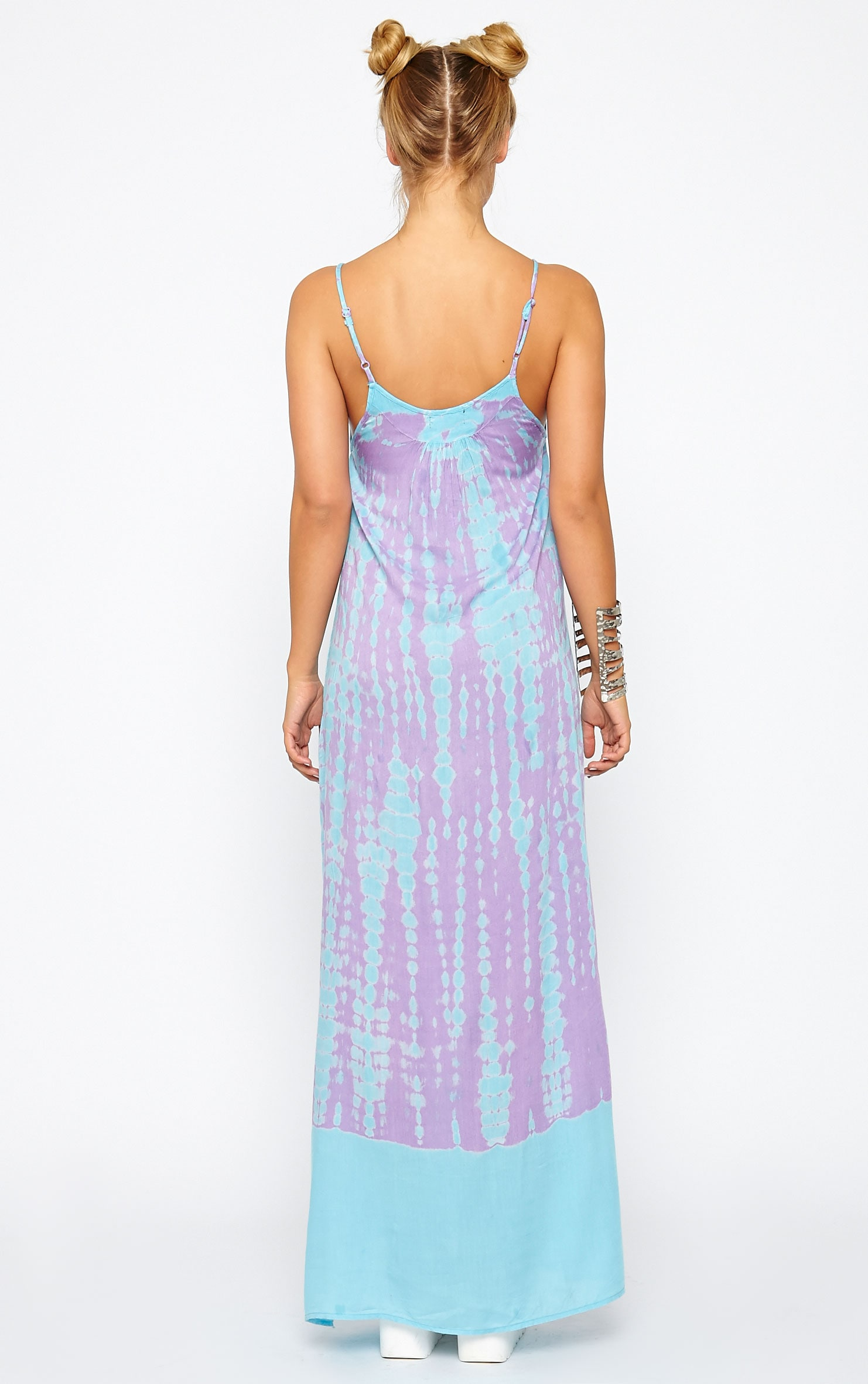 Zadie Purple Tie Dye Maxi Dress 2