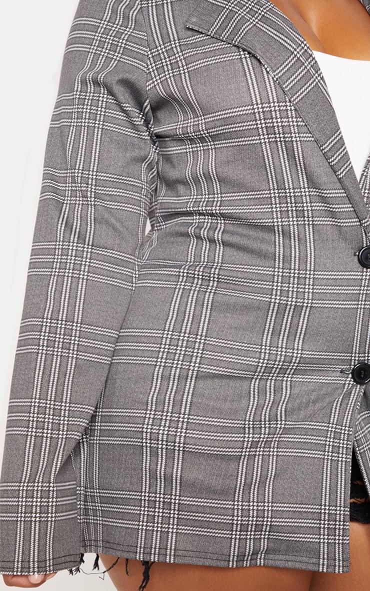 PLT Plus - Blazer gris à carreaux  5