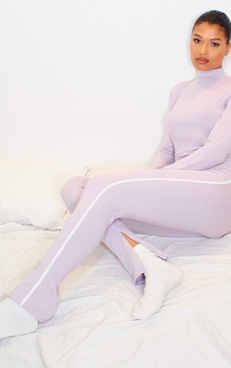 Lilac Sports Stripe High Neck Jumpsuit 3