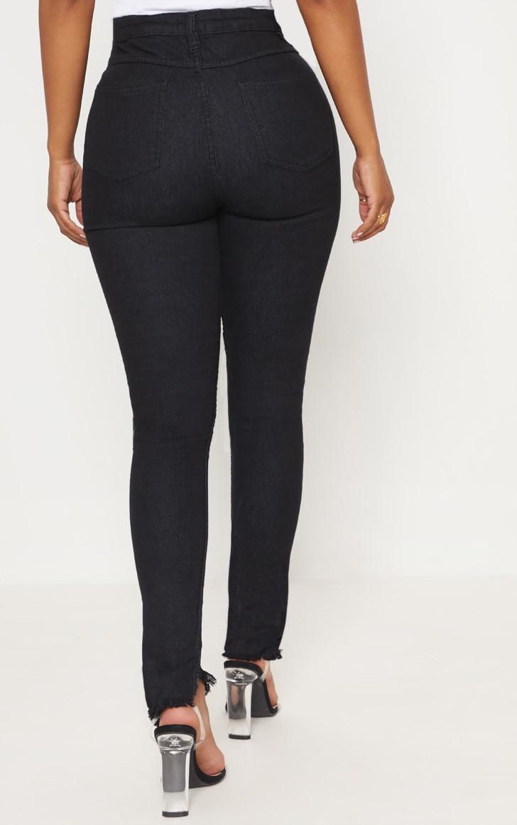 Shape Black High Waisted Skinny Jeans 6