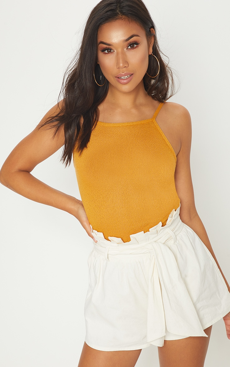 Mustard Lightweight Knit Cami Top 1