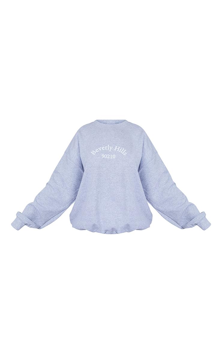 Grey Beverly Hills Printed Sweatshirt 5