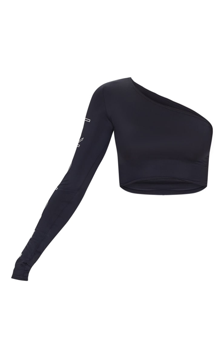 PRETTYLITTLETHING Black Long Sleeve Cropped Gym Top 3