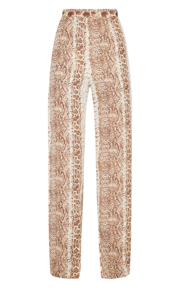 Chocolate Snake Print Wide Leg Pants 3