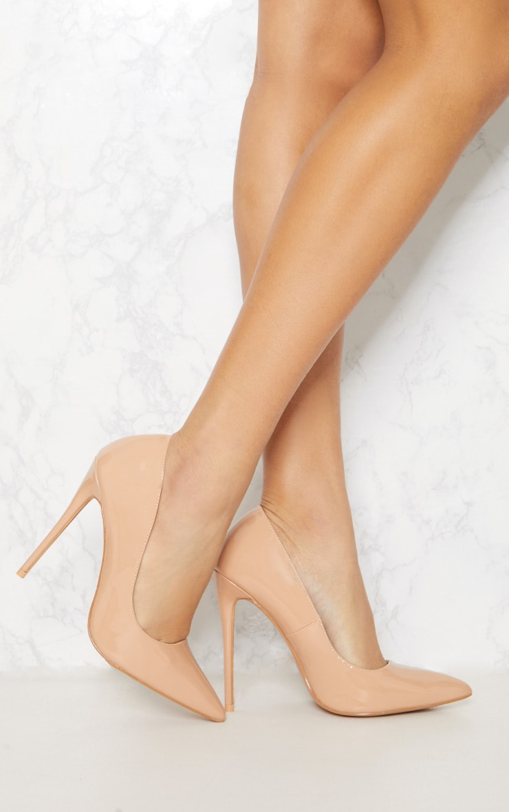 Nude High Patent Pointed Court 1