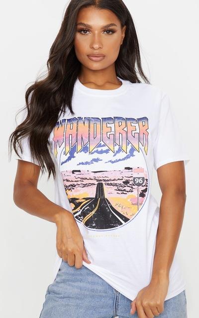 White Wanderer Oversized T Shirt