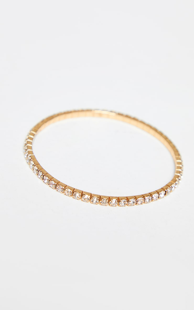Gold Diamante Simple Anklet 2