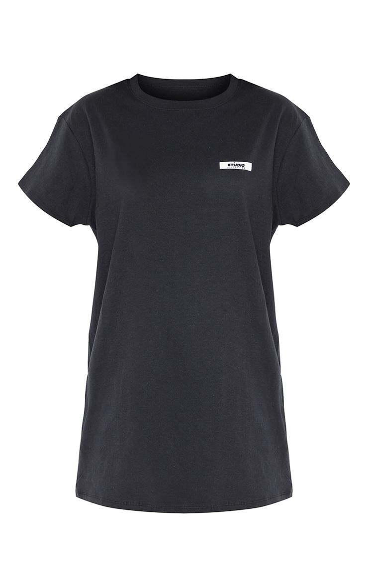 PRETTYLITTLETHING Tall Black Oversized T-Shirt 5