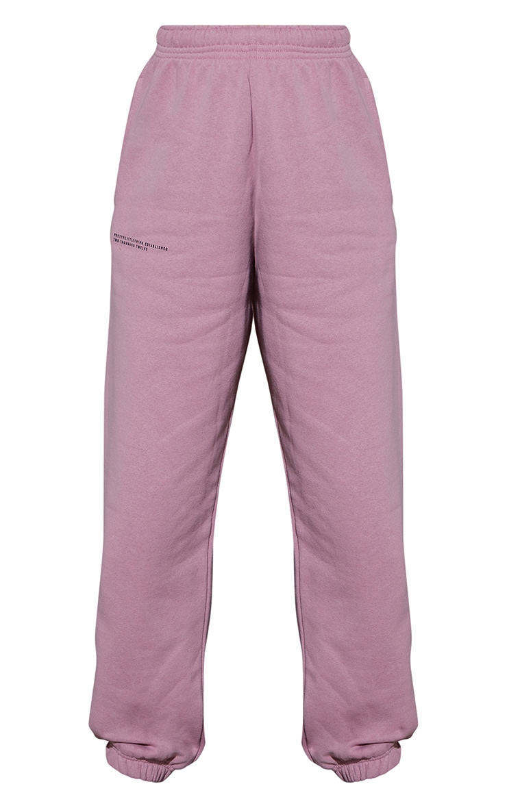 PRETTYLITTLETHING Dusty Pink Est 2012 Joggers 5