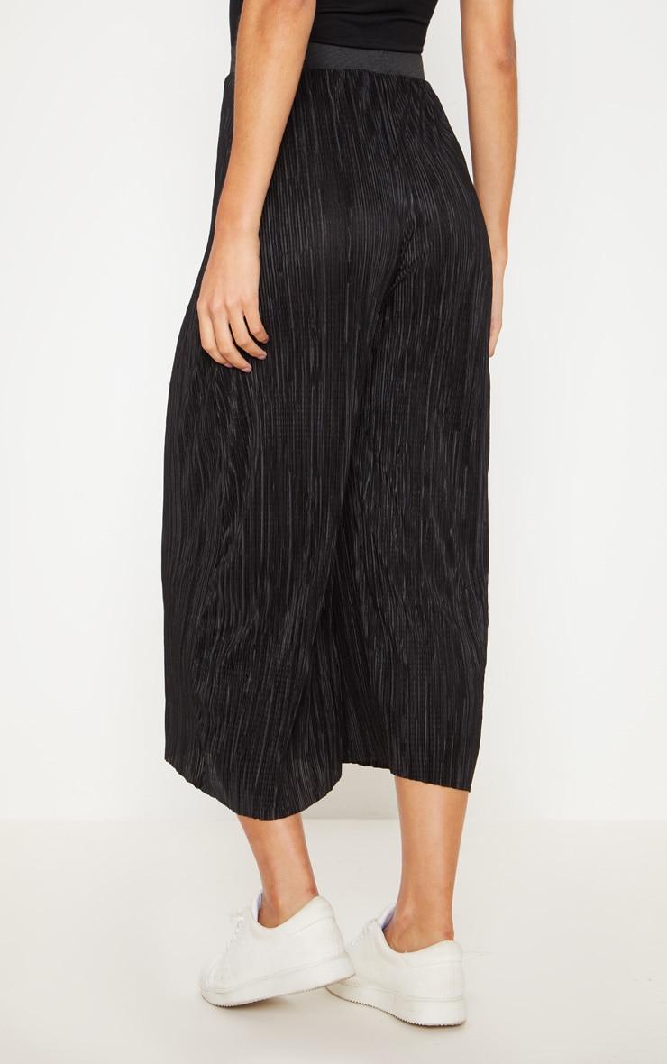 Black Oversized Plisse Culotte 4