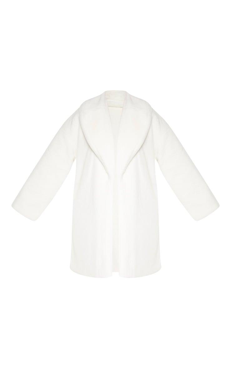Plus Cream Midi Faux Fur Coat 3