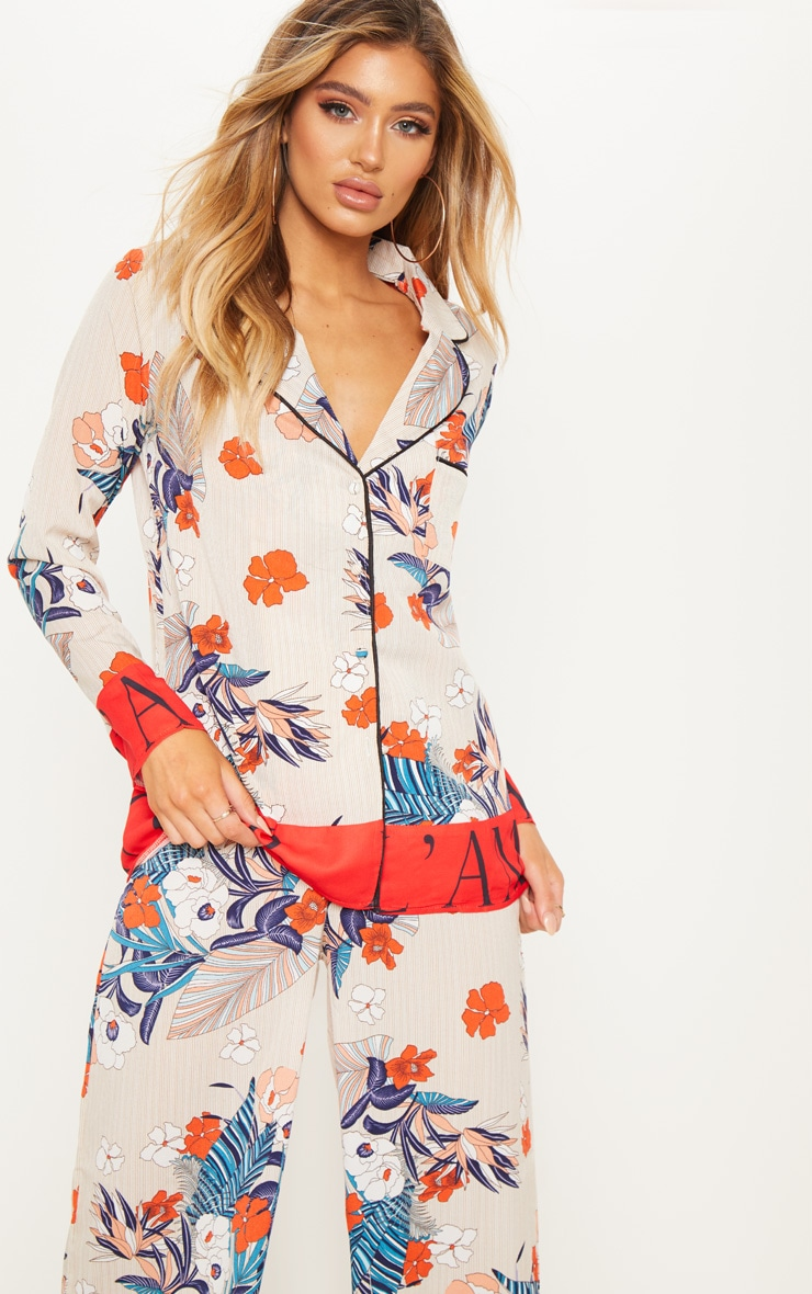 Multi Print Oversized Shirt by Prettylittlething
