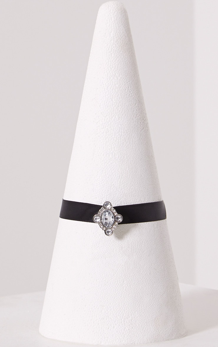 Mabel Black Diamante Choker 2