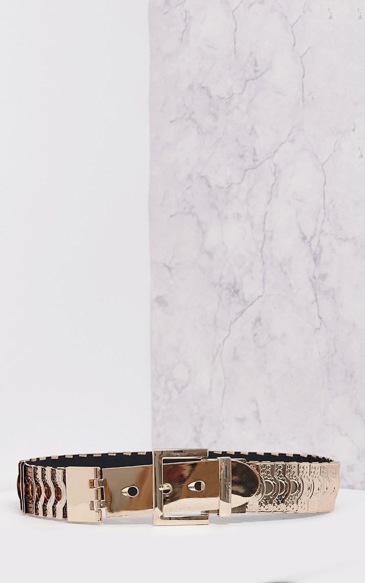 Floe ceinture à disques dorés 4