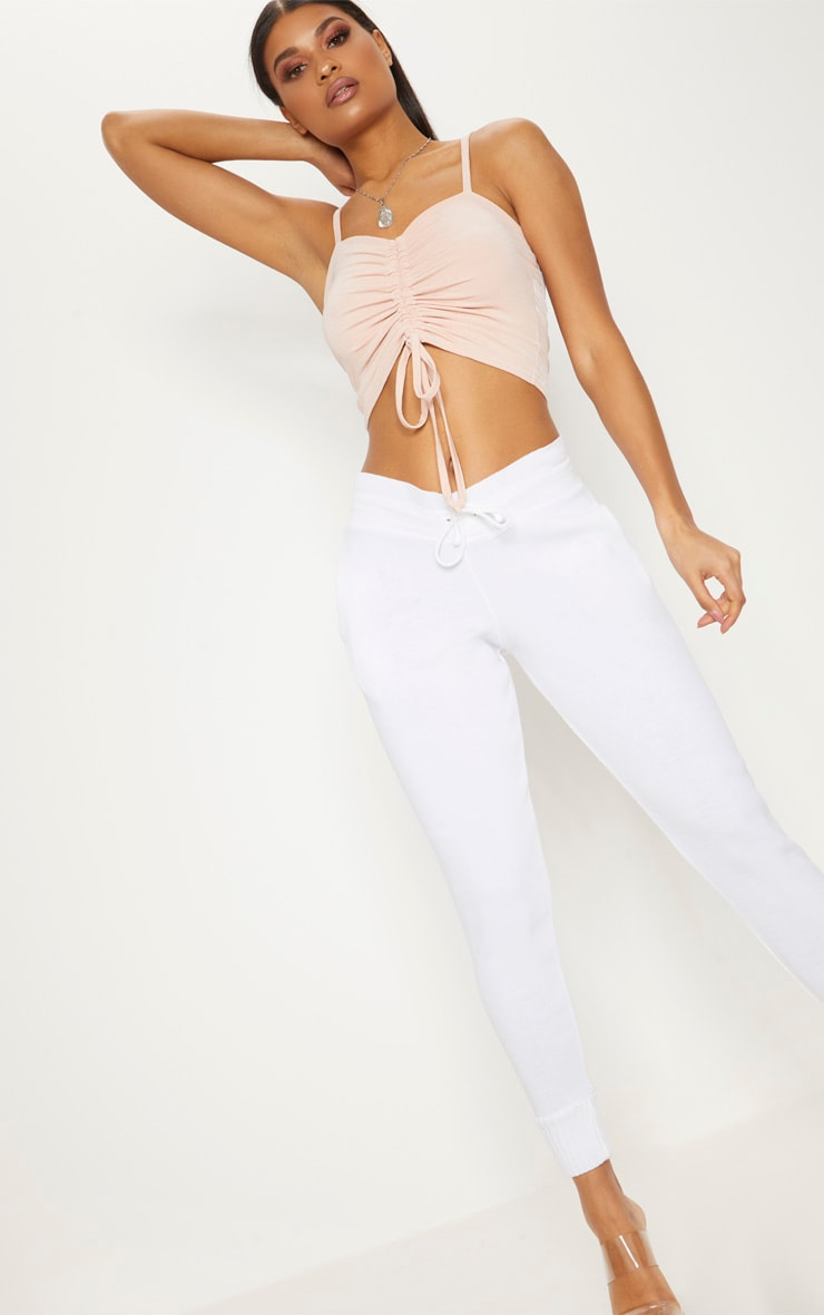 Rose Ruched Front Strappy Crop Top 4