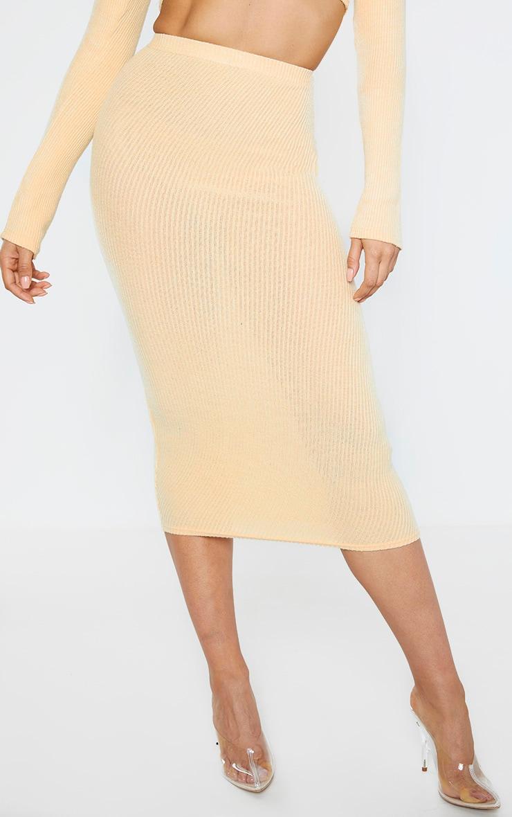 Tall Stone Brush Rib Midi Skirt 2