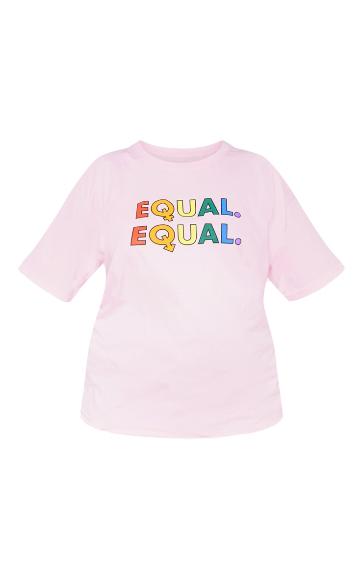 Plus Pink EQUAL Oversized T-shirt  3