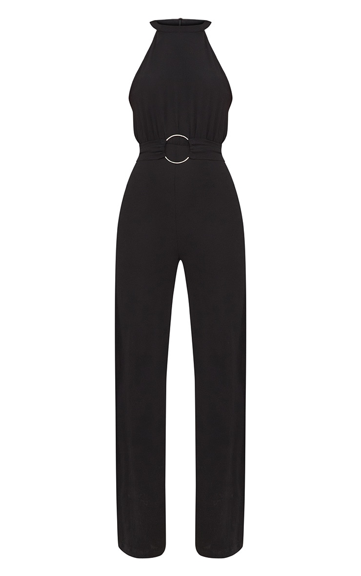 Black Ring Detail Jumpsuit 4