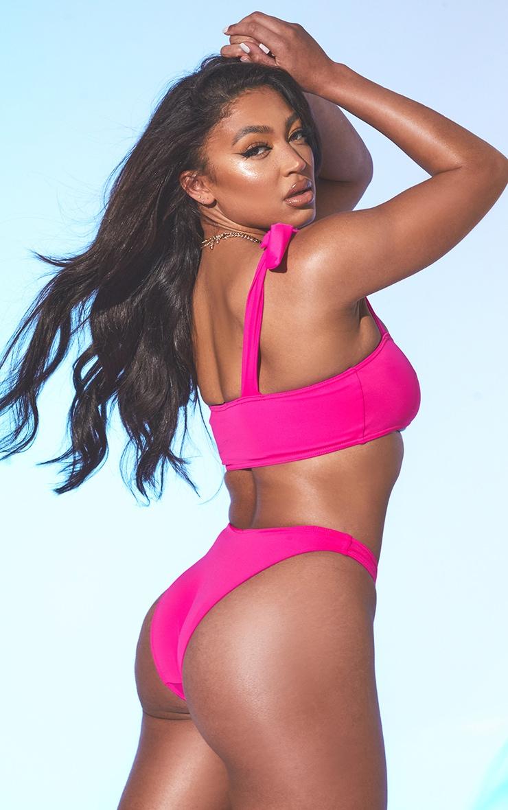 Pink Bow Shoulder Bikini Set 2