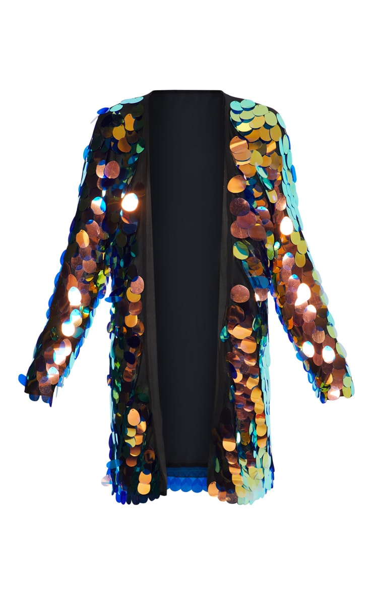 Kimono à gros sequins irisés  3
