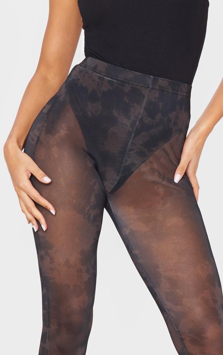 Black Tie Dye Mesh Legging 5