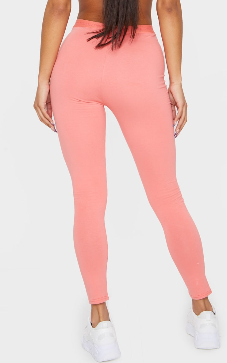 PRETTYLITTLETHING Coral High Waisted Leggings 3