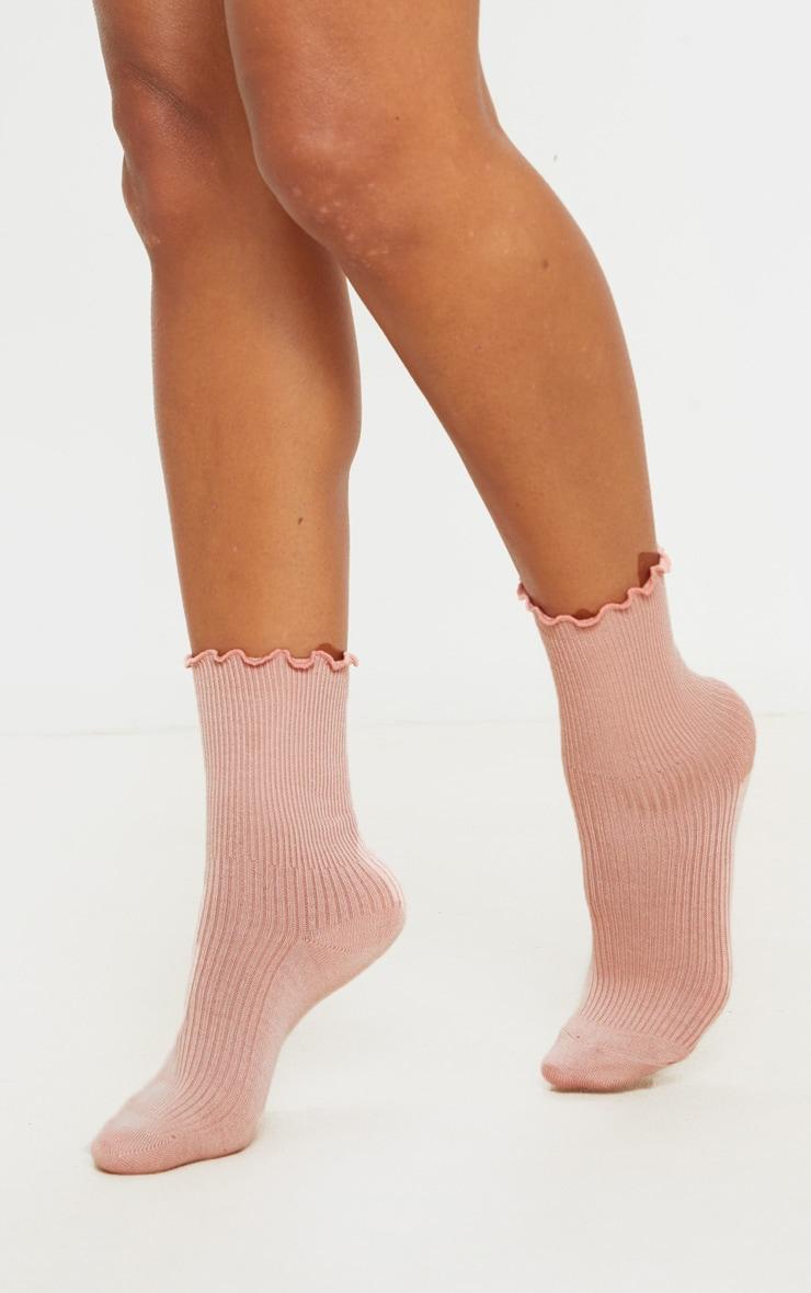 Pink Frill Socks 3