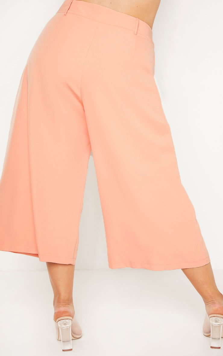 Plus Peach High Waist Culottes 4