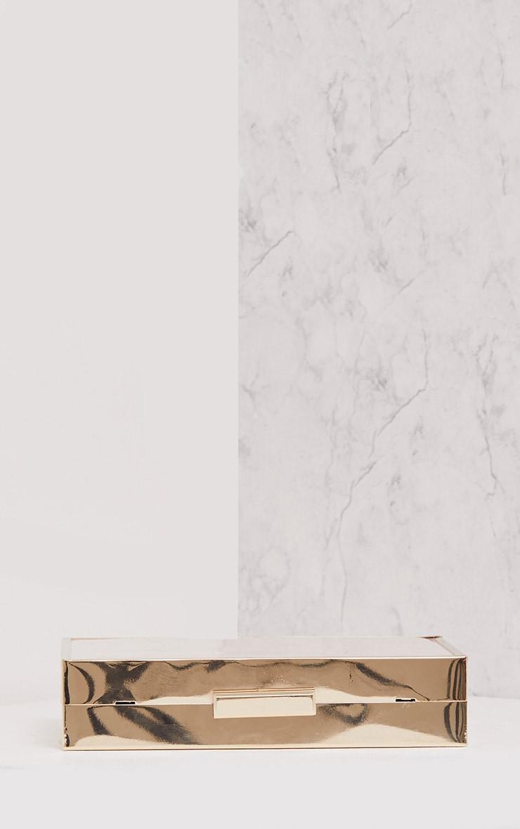 Jade Nude Chunky Box Clutch 4