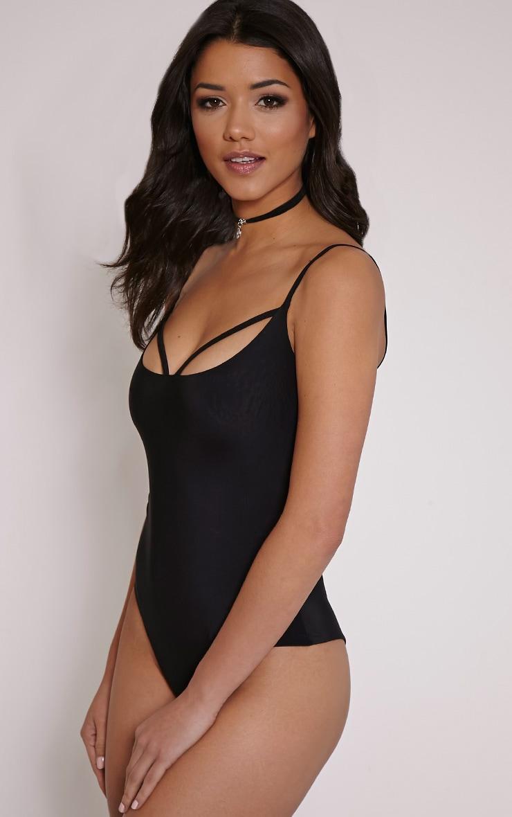 Kiya Black Strap Detail Bodysuit 7