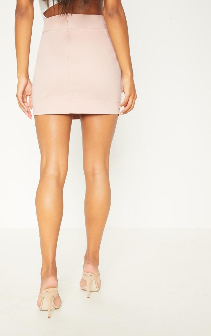Dusty Pink Cargo Pocket Detail Mini Skirt 4