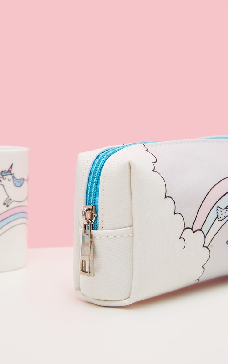 OhhDeer Large Unicorn Pencil Case 3
