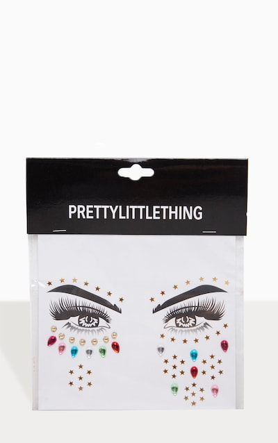 PRETTYLITTLETHING Rainbow Prism Festival Face Jewels